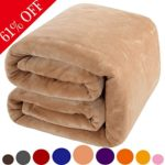Shilucheng Super Luxury Fleece Blankets,Extra Soft and Warm Bed Blanket,Lightweight Fuzzy Couch Blanket and Easy Care Throw/Twin/Queen/King Size (Queen,Cream)