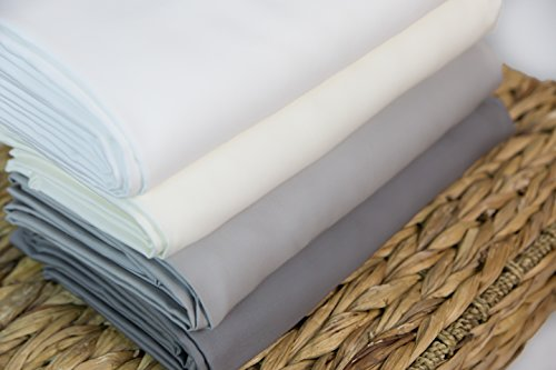 Super Soft 100% Rayon from Bamboo Duvet Cover (Full/Queen, Pure White)