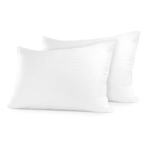 Restoration Gel Pillow – (2 Pack Queen) Best Hotel Quality Comfortable & Plush Cooling Memory Gel Fiber Filled Pillow – Dust Mite Resistant