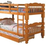 Acme 02578C Benji Trundle for 4-1/2 Post Twin Bunk Bed, Honey Oak Finish