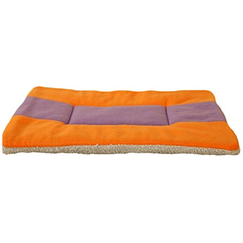 Spring fever Pet Bed Crate Mattress Multi Sizes Dog Cat Bed Water-resistant base Yellowpurple XS(15.312.6inch)