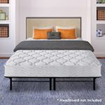 Best Price Mattress 8″ Pocket Coil Spring Mattress & 14″ Dual-Use Steel Bed Frame/Foundation Set, Twin