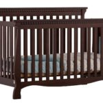 Stork Craft Venetian 4-in-1 Fixed Side Convertible Crib, Espresso