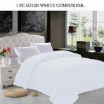 Elegant Comfort Luxury Goose Down Alternative Double Full Comforter, Full/Queen, White