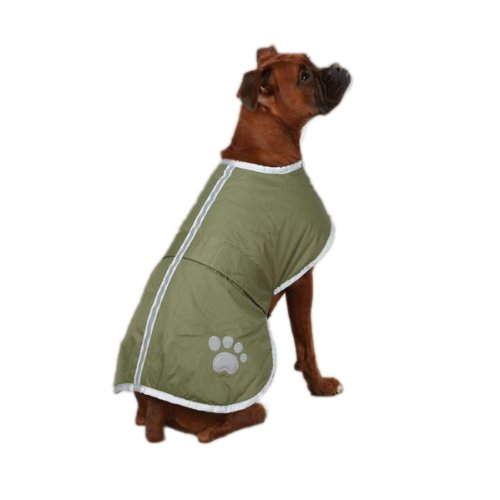 Zack & Zoey Nor'easter Blanket Coat for Dogs, 20″ Large, Green
