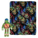 Teenage Mutant Ninja Turtles Pillow and Throw Gift Set 16″ Pillow and 40″x50″ Blanket
