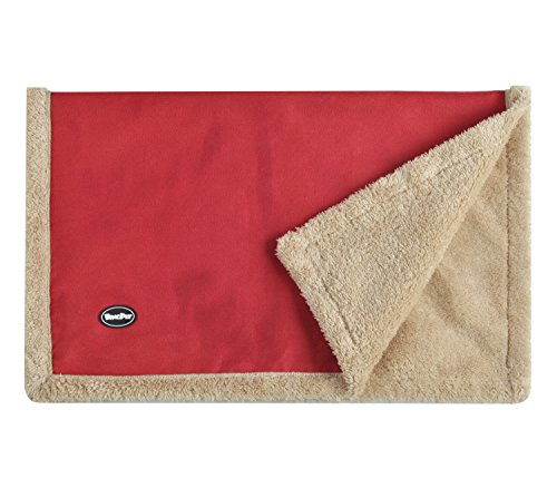 BINGPET Faux Suede Fleece Pet Dog Cat Blanket Throw for Car Lap Sofa Bed Crate Keenel and Carrier Small 21″*27″