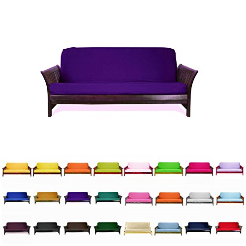 Magshion@Futon Cover Slipcover (Purple, Full (54×75 in.))