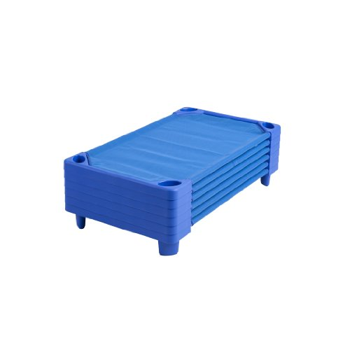 ECR4Kids Streamline Ready-to-Assemble Toddler Cots (6 Pack), Blue