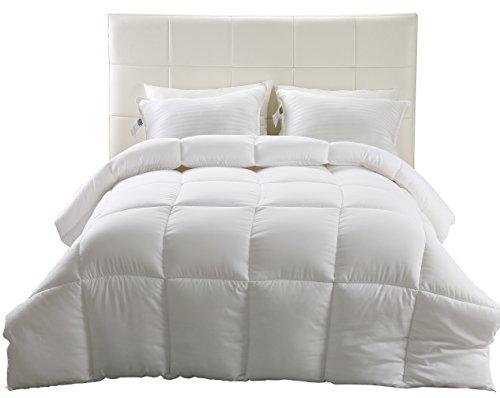 Down Alternative Comforter (White, King) – All Season Comforter – Hypoallergenic Plush Siliconized Fiberfill Duvet Insert – Box Stitched- by Utopia Bedding