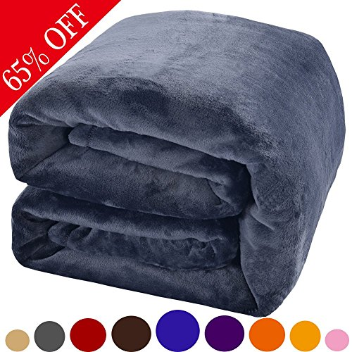 Luxury Polar Fleece Blankets by Shilucheng,Extra Soft and Warm Bed Blanket,Fuzzy Lightweight Couch Blanket and Easy Care (Throw, Royal Blue)