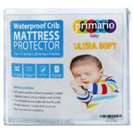 Organic Ultra Soft Waterproof Crib Mattress Pad, 100% Waterproof Crib Pad With High Absorbency & Advanced Leak Protection, Quilted Bamboo Surface Designed For Premium Comfort by Primario Baby