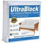 UltraBlock Futon Full Size Waterproof Mattress Protector – Premium Soft Cotton Terry Cover