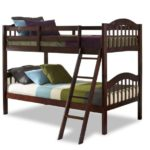 Storkcraft Long Horn Solid Hardwood Twin Bunk Bed, Cherry