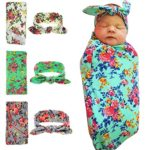 Quest Sweet Newborn Swaddle,Swaddle Cocoon,Blanket&Headband Set (3 Pack)