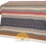 NOT A COUNTERFEIT – AUTHENTIC ALPACA Throw Blanket – COZINESS Guaranteed by the Best Natural THERMAL MANAGEMENT: Never Too Warm or Cold, ALWAYS CUDDLY! – Premium Quality – Classic Southwest Design