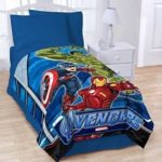 Marvel Avengers Super Plush Twin / Full Micro Raschel Bed Blanket – 62″ X 90″