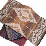 Ruth&Boaz Outdoor Blanket (B) (59″X55″) with 20% Wool Ethnic Inka Pattern (BROWN)