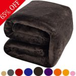 Luxury Polar Fleece Fuzzy Blanket by Shilucheng,Super Soft Warm Lightweight Couch Bed Blankets Easy Care (Twin, Coffee)