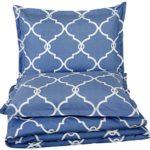 Pinzon 300-Thread-Count Cotton Percale Duvet Cover Set,King,Bijou Blue