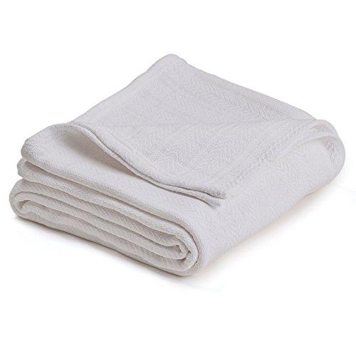 Vellux Cotton Woven King Blanket, White