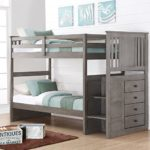 Donco Kids Twin over Twin Stairway Bunk Bed –