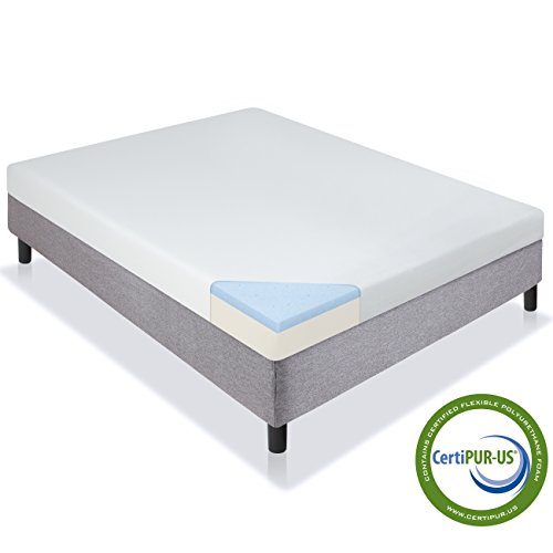 Best Choice Products 5″ Dual Layered Gel Memory Foam Mattress CertiPUR-US