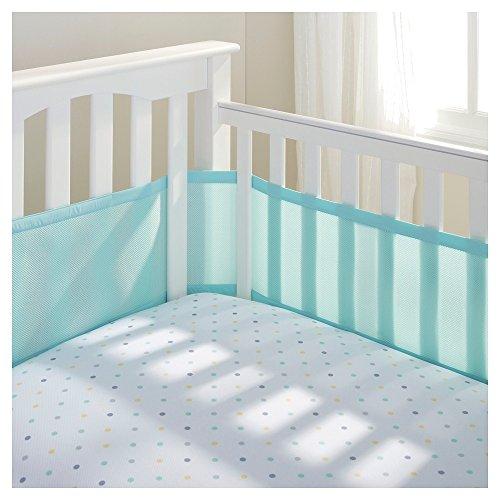 BreathableBaby Breathable Mesh Crib Liner- Aqua, 1 Pack