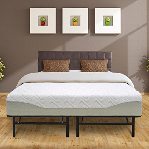 Best Price Mattress 11″ Gel-infused Memory Foam Mattress & 14″ Premium Metal Bed Frame Set, Full