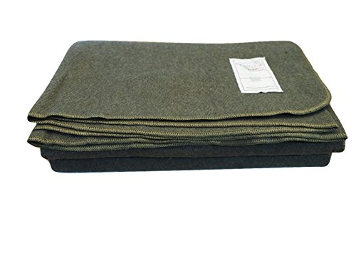 Woolly Mammoth Woolen Company Explorer Collection Wool Blanket (Olive Green)