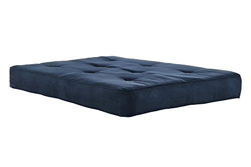 DHP 5424696 Independently Encased Coil Futon Mattress in Cobalt, Full/8″, Blue