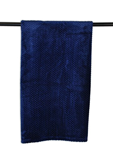 DII Bone Dry Warm, Soft, Plush, Pet Throw Blanket for Couch, Car, Trunk, Cage, Kennel, Dog House, 36×48″, Navy