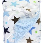 Honey Baby Plush Ultra Soft Coral Fleece Baby Blanket, 30 X 40 Inches (Star Field)