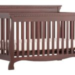 Stork Craft Venetian 4-in-1 Fixed Side Convertible Crib, Cherry