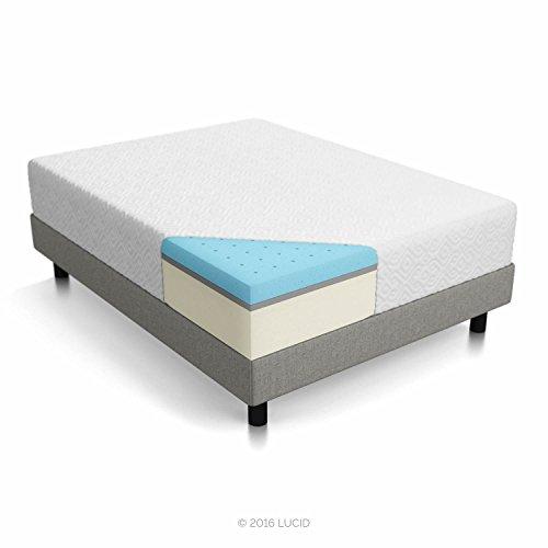 LUCID 12 Inch Gel Memory Foam Mattress – Triple-Layer – 4 Pound Density Ventilated Gel Foam – CertiPUR-US Certified – 25-Year Warranty – Cal King
