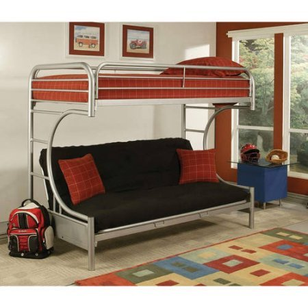 Eclipse Twin Over Full Futon Bunk Bed (Silver)