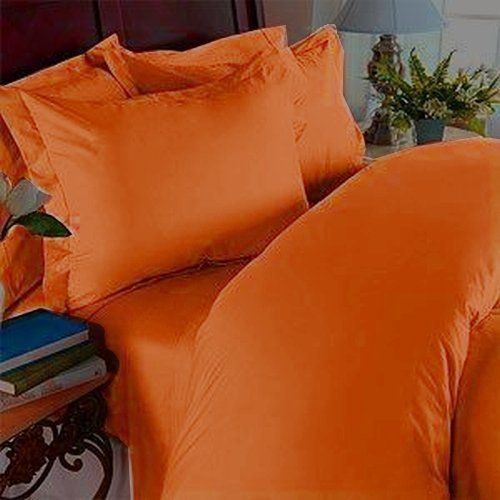 Elegant Comfort ® 1500 Thread Count Egyptian Quality WRINKLE & FADE RESISTANT 2pc Duvet Cover Set, Solid, Twin/Twin XL, Elite Orange