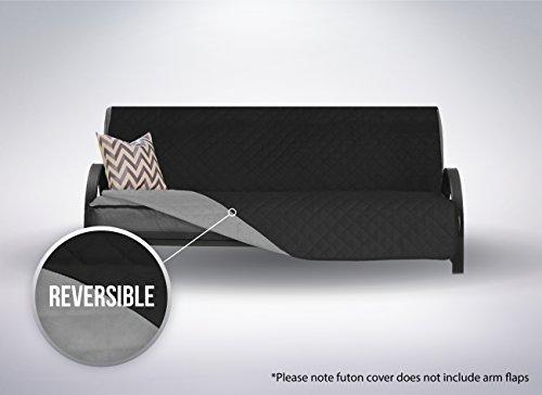 The Original SOFA SHIELD Reversible Furniture Protector, Features Elastic Strap (Futon: Black/Gray)