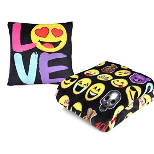Emoji Pals Plush Throw Blanket and Pillow Set – Love by Emoji Pal