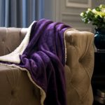 Sherpa Throw Blanket Purple 50×60 Reversible Fuzzy Microfiber All Season Blanket for Bed or Couch by Bedsure