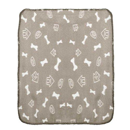 Pet Bed,Haoricu Pet Dog Cat Blanket Soft Warm Fleece Mat Bed Cover (Beige)