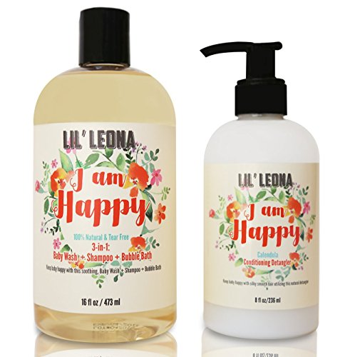 Baby Conditioner and Shampoo by Lil Leona: Cleansing conditioner and cowash for kids' hair. (24oz, Baby Conditioner & Shampoo)