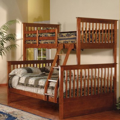 K & B Furniture Twin Over Full Bunk Bed – Esprit Walnut