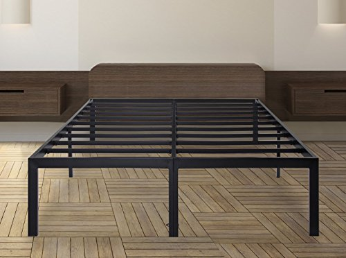Olee Sleep 18 Inch Tall T-3000 Heavy Duty Steel Slat Bed Frame,OLR18BF04F (FULL)