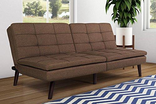 DHP Premium Westbury Linen Pillowtop Futon, Brown
