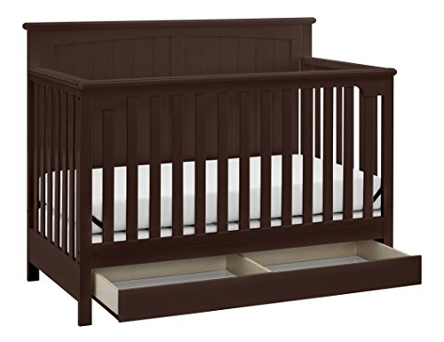 Stork Craft Davenport 5-in-1 Convertible Crib with Drawer, Espresso