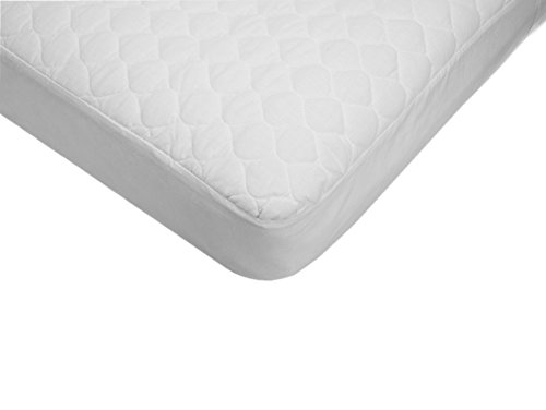 American Baby Company Extra Durable Waterproof Quilted Cotton Crib Mattress Pad Cover, White, 28″ X 52″ X 9″