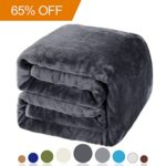 Balichun Luxury Fleece Blanket Super Soft Warm Lightweight Bed or Couch Blanket (Queen,Dark Grey)