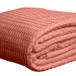 Deluxe 100% Soft Cotton Thermal Waffle Weave Blanket – QUEEN Size – ROSE