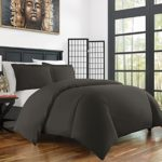 Zen Bamboo Ultra Soft 3-Piece BambooKing/Cal KingDuvet Cover Set –Hypoallergenic and Wrinkle Resistant, Gray